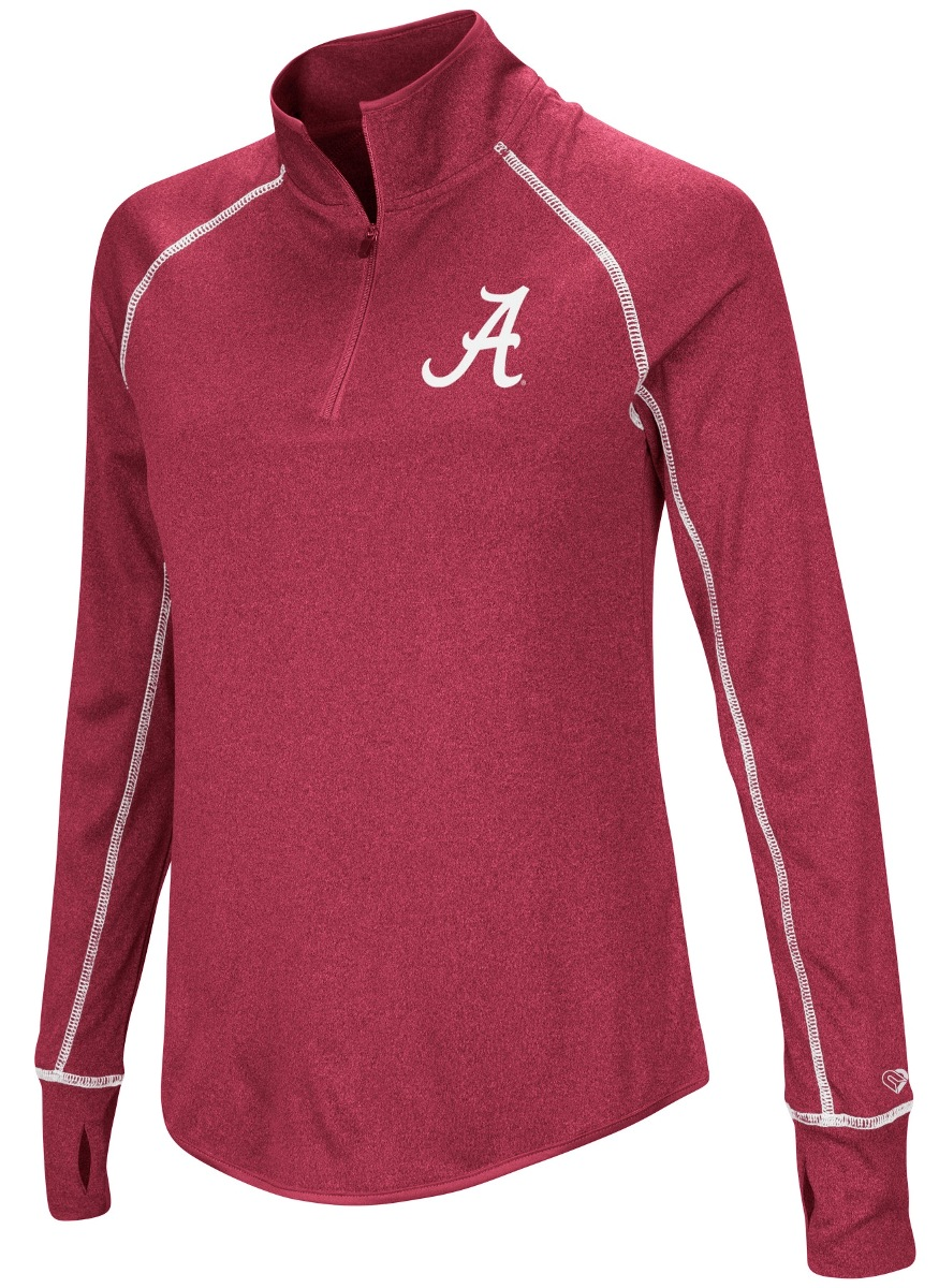 "Alabama Crimson Tide Women's NCAA ""Superstar"" 1/4 Zip Long Sleeve Wind Shirt"